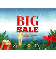 winter sale tag banner red sale tag vector image vector image