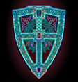 with motley celtic shield vector image