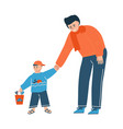 young family father and son spend time together vector image