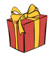 gift box icon cartoon vector image