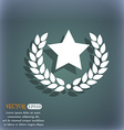 Star award icon On the blue-green abstract vector image