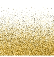Abstract Falling Golden Parts Confetti Background vector image vector image