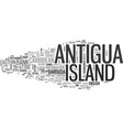 antigua hotels text word cloud concept vector image vector image