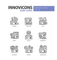 bank cards - modern line design icons set vector image vector image