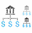bank payments composition icon unequal parts vector image vector image
