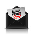 black friday inscription on paper sheet in vector image