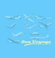 bon voyage set aircraft air transport vector image