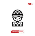 boy icon vector image vector image