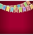 Bunting Flags on Red Background vector image