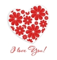 Card with heart and inscription - I love you vector image vector image