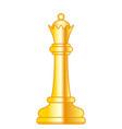 chess queen vector image vector image