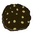 chocolate chip cookie comic cartoon vector image vector image