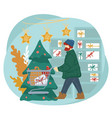 christmas holiday preparation an buying presents vector image