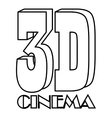 Cinema icon outline style vector image vector image