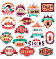 circus labels vintage carnival show circus vector image vector image
