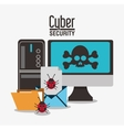 cyber security system computer design vector image vector image