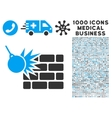 Destruction Icon with 1000 Medical Business vector image