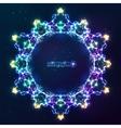 Electric lightnings kaleidoscope frame vector image vector image
