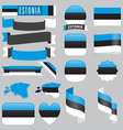 estonia flags vector image vector image