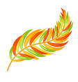flat color abstract leaf silhouette on white vector image