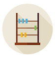 Flat Math Counter Abacus Circle Icon with Long vector image