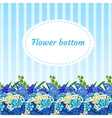 Floral blue background with bouquets vector image