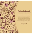 Floral vintage with space for text vector image vector image