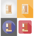 furniture flat icons 23 vector image