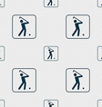 Golf sign Seamless pattern with geometric texture vector image vector image