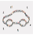 group people shape car vector image