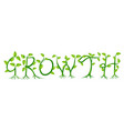 growth plant typography concept vector image