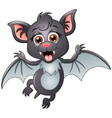 happy bat cartoon isolated on white background vector image