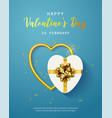happy valentines day banner flyer poster vector image vector image