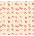 Heart and star seamless pattern vector image