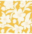 Hellebore Christmas rose flowers pattern yellow vector image vector image
