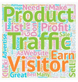 How To Turn Your Traffic Into Greatest Profit text vector image vector image