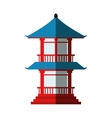 Isolated tower of china design vector image