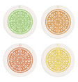 labels and tags collectioncitrus concept vector image