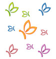 letter b shape butterfly beauty logo vector image vector image