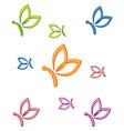 letter b shape butterfly beauty logo vector image vector image