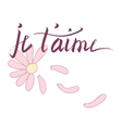 Lettering French card vector image vector image