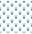 medical red cross pattern seamless vector image