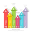 Modern business infographics abstract arrows vector image vector image