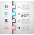Modern business step origami style options banner vector image vector image