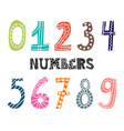 Numbers set Collection of cute colorful numbers vector image vector image