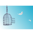 Opened cage vector image vector image