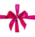 pink holiday ribbon vector image
