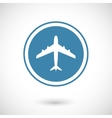Plane and travel icon vector image vector image