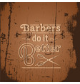 quote typographical background about hair with of vector image vector image