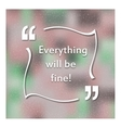Quotes in quotation marks Caption - Everything vector image